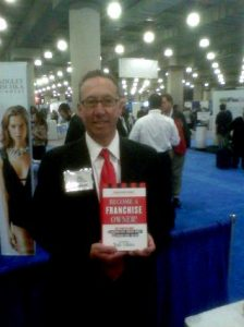 Joel Libava in New York City with his 1st book