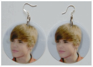 justin bieber earrings