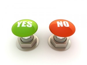 yes and no web buttons